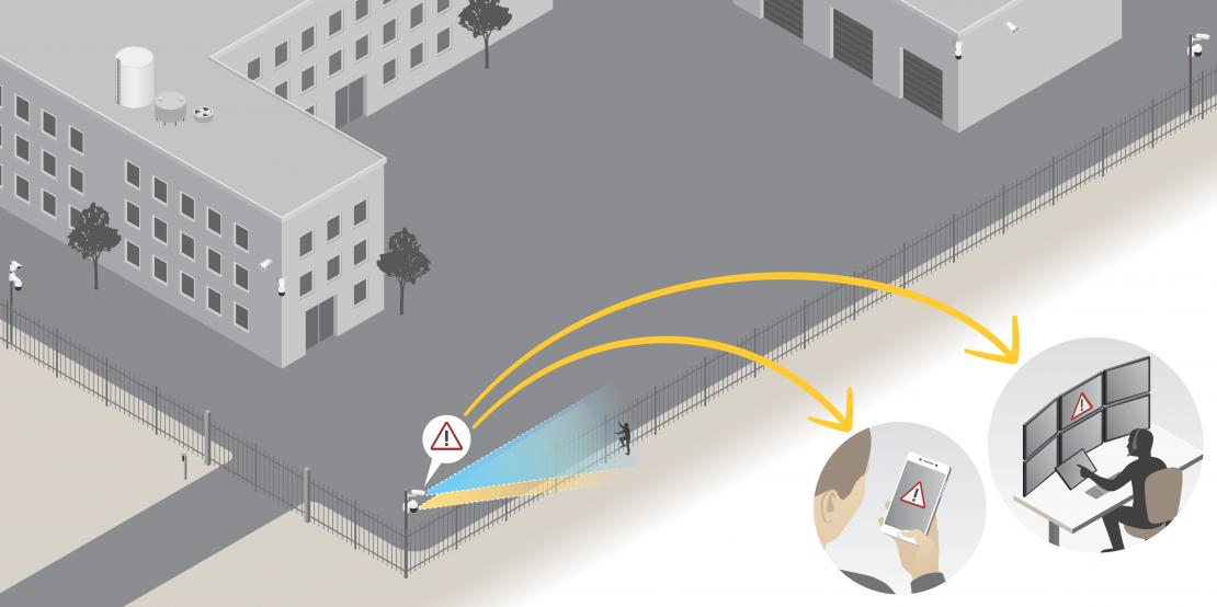 Приложение для охраны периметра AXIS Perimeter Defender